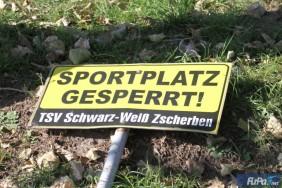 Sportplatz gesperrt!